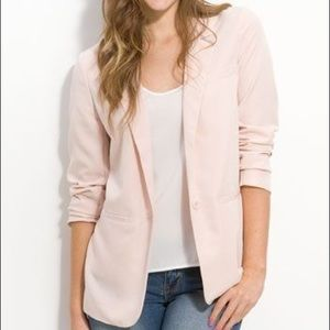 Frenchi Light Pink Boyfriend Blazer